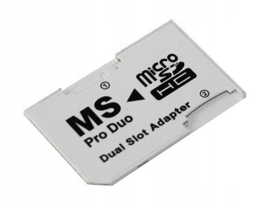 ADAPTER DUAL MICRO SD MS STICK PRO DUO DWIE KARTY