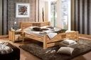 Łóżko lity dąb MALAGA 180x200, naturalne drewno