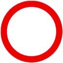 Znak Drogowy B 600mm zakaz ruchu faktura