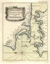 CARTE DE L'ENTEREE DU GOLPHE DU CHILOE. PARIS 1764