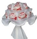 Słodki bukiet z cukierków Raffaello komunia ślub