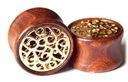 plug tunel ORGANIC drewno złote ornamenty 12mm