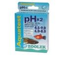 ZOOLEK AQUA TEST pH 2x 4.5-9 i 6-8 ODCZYN WODY