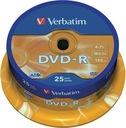 Płyty DVD-R VERBATIM 4,7 GB AZO 25 szt