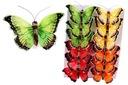 Motyle na klipsie firanki 8cm/12sztuk M1 12 wzorów