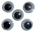 Augen mit einer Schülerin in schwarz 8 mm 10 einfügen