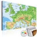 Tablica korkowa Europa Mapa obraz na korku 120x80