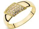 Oryginalny Złoty pierścionek z cyrkoniami pr.585