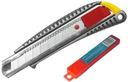 Nóż z ostrzem łamanym 18mm +GRATIS zapasowe ostrza