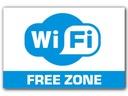 TABLICZKA STREFA WiFi Wi-Fi FREE ZONE 30x20 cm