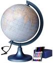 Globus 250 mm KONTUROWY PODŚWIETLANY + FLAMASTRY