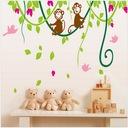 Naklejki ścienne na ściane dla dzieci Małpki XXL