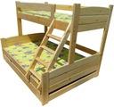 MEGA KOLOS 140x200 łóżko piętrowe trzyosobo 150kg
