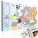 Tablica korkowa obraz Europa mapa 120x80