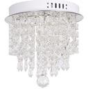 plafon kryształowy LED k9 28cm lampa sufitowa