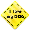 STICKER * NAKLEJKA * ODBLASKOWA I LOVE MY DOG