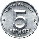 Германия DDR - монета - 5 Pfennig 1948 Года, А - БЕРЛИН доставка товаров из Польши и Allegro на русском