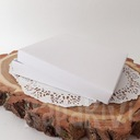Pudełko na kartkę kwadratową białe 300g