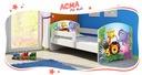 ACMA Łóżko dziecięce 140X70 + materac ZESTAW Długość 144 cm