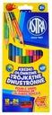 Карандаши, точилки для карандашей Двусторонние Astra 24 цвета