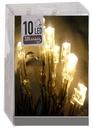 lampki 10 LED świąteczne na baterie białe ciepłe Z