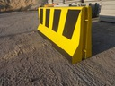 Bariery betonowe, zapory drogowe-malowane jednostr