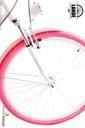 Rower miejski 28 LANDE Savana Nexus Alu biało-róż Wyposażenie dodatkowe bagażnik błotniki stopka