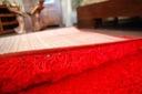 DYWAN SHAGGY 70x100 5cm czerwony miękki jednolity Przeznaczenie do wnętrz