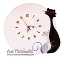 Zegar z Kotem Okrągły drewniany SOLIDNY POLSKI