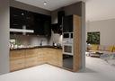 Мебель Кухонные Город Белый блеск / бетон Ателье
