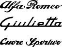 ALFA ROMEO Giulietta 145 146 147 naklejki naklejka