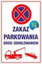 TABLICZKA - ZAKAZ PARKOWANIA 20x30 PCV 5mm EAN 9876826499134