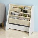 SoBuy FRG225-W Regał na książki dla dzieci, stojak Szerokość mebla 62 cm