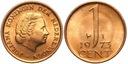 Holandia - moneta - 1 Cent 1973 - MENNICZA - UNC