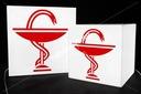 Elegancki świecący KWADRAT 70cm z plexi producent