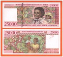 MADAGASKAR - 25000 FRANCS/ARIARY - 1998 - P-82 UNC