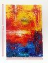 """""""WĘDROWCY"""", abstrakcja, akryl, 70x100 cm"""