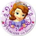 tabliczka PRINCESS ON BOARD Zosia Disney dziecko