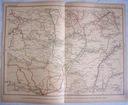 CZECHOSŁAWACJA MORAWY. Mapa kolejowa.