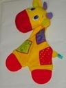 przytulanka kocyk żyrafa gryzak