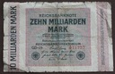#10Milliarden mark 1923 Ros.114 A.....od 7,99zł