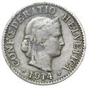 Szwajcaraia - moneta - 5 Rappen 1914 - RZADKA !