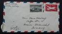 List z USA do Niemiec.strefa Brytyjska 1951
