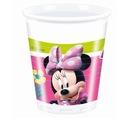 Kubeczki plastikowe Myszka Minnie 8 szt różowe