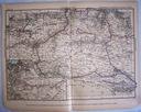 AUSTRIA. Mapa kolejowa.