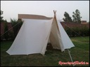 """Saxony tent """"Niord"""" with wood entry"""