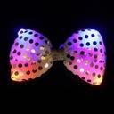 Mucha karnawałowa świecąca LED muszka mix kolorów