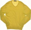 zara _ żółty ładny sweterek ze ściagaczami _  L