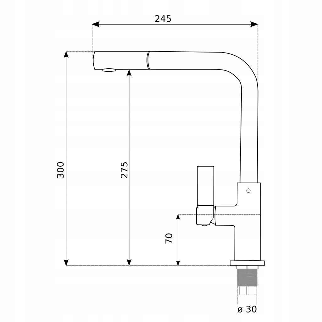 Bateria kuchenna Linea 2 - rysunek techniczny