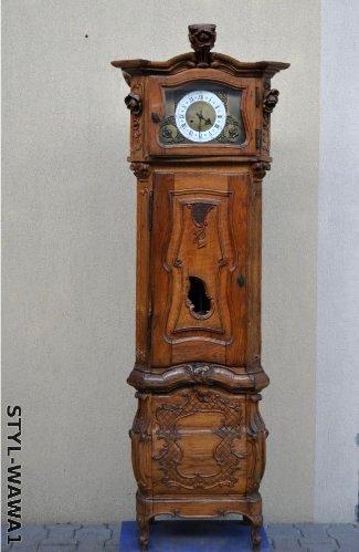 Stary Zegar Stojący Mocno Rzeźbiony Kieninger Waw